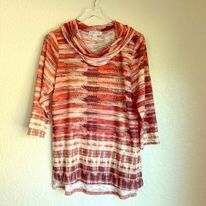 Christopher & banks multi colored top